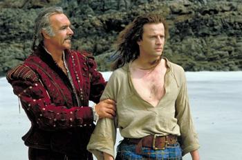 Chris Lambert and Sean Connery