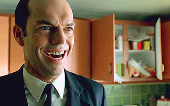 Agent Smith is giddy