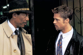 Morgan Freeman and Brad Pitt